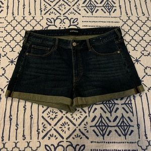 Express Shortie Relaxed Low Rise Jean Shorts